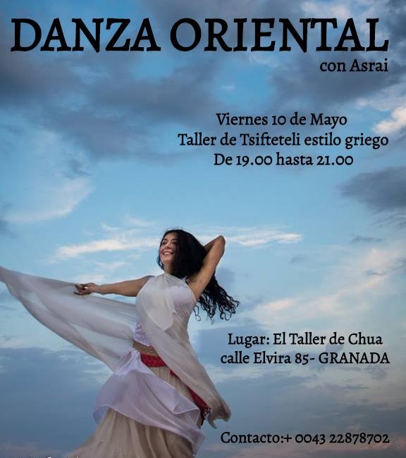 Taller de Danza Oriental- Viernes 10 de Mayo GRANADA