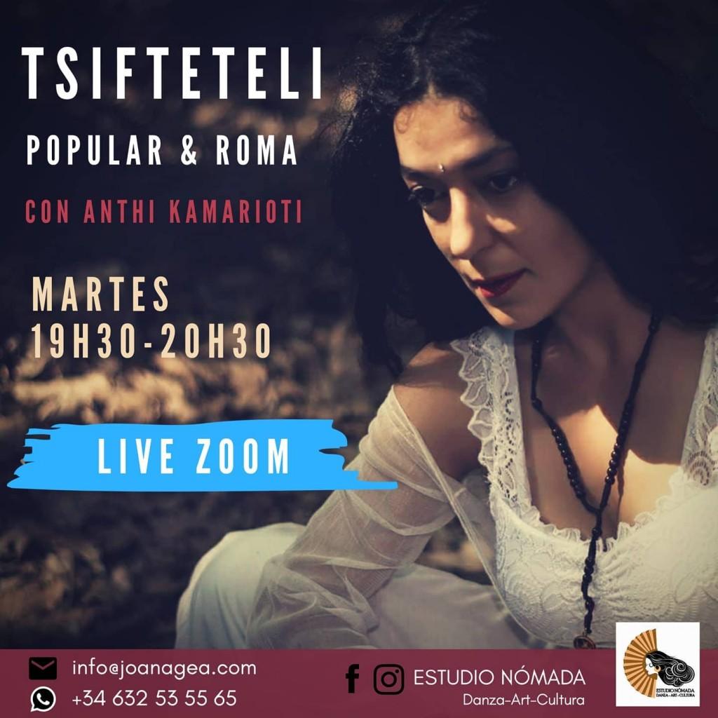TSIFTETELI POPULAR & ROMA LIVE ZOOM en Estudio Nomada